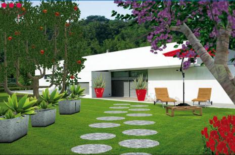 Le jardin con u du bout des doigts green city garden for Exemple de jardin paysager