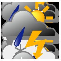 nuageux et orageux