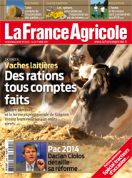 Couverture de La France Agricole n° 3405 du 14 octobre 2011.
