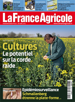 Couverture de La France Agricole du 20 avril 2012 (n° 3432).