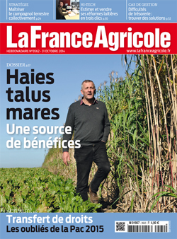 Couverture de La France Agricole du 31 octobre 2014 (n° 3562).