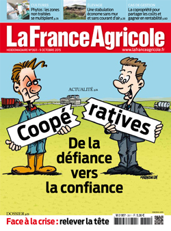 Couverture de La France Agricole du 9 octobre 2015 (n° 3611).
