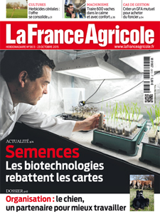 Couverture de La France Agricole du 23 octobre 2015 (n° 3613).